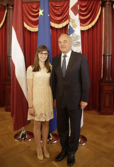 Dita ar Valsts prezidentu A.Bērziņu